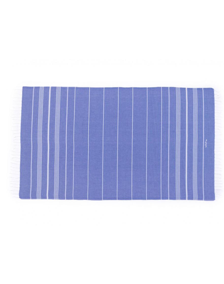 Fouta en coton peigné Azur 50 x 100 cm