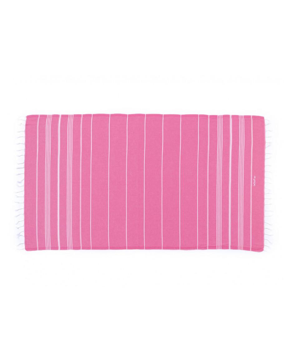 Fouta en coton peigné Rose Bonbon 50 x 100 cm