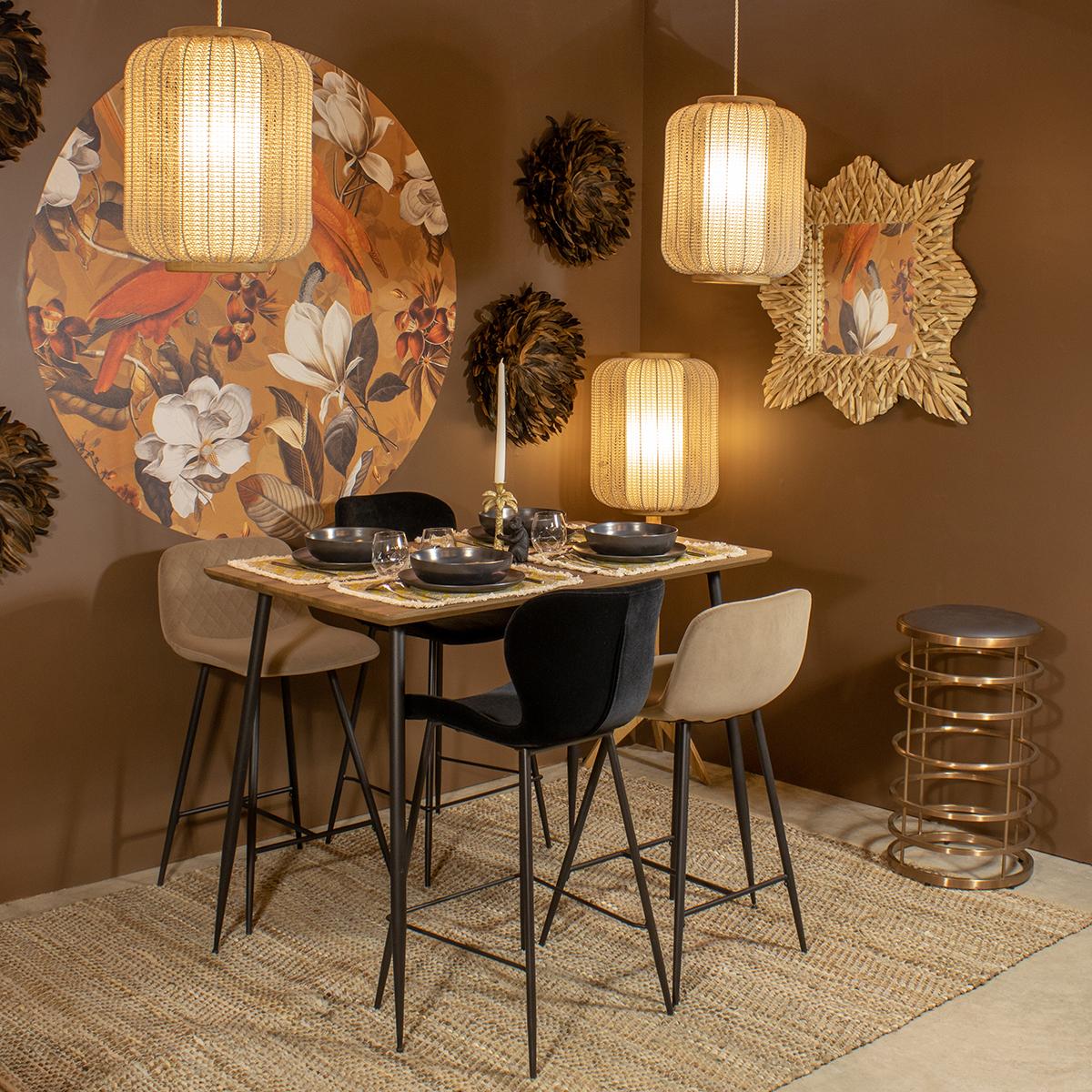Table haute de bar finition bois 120cm