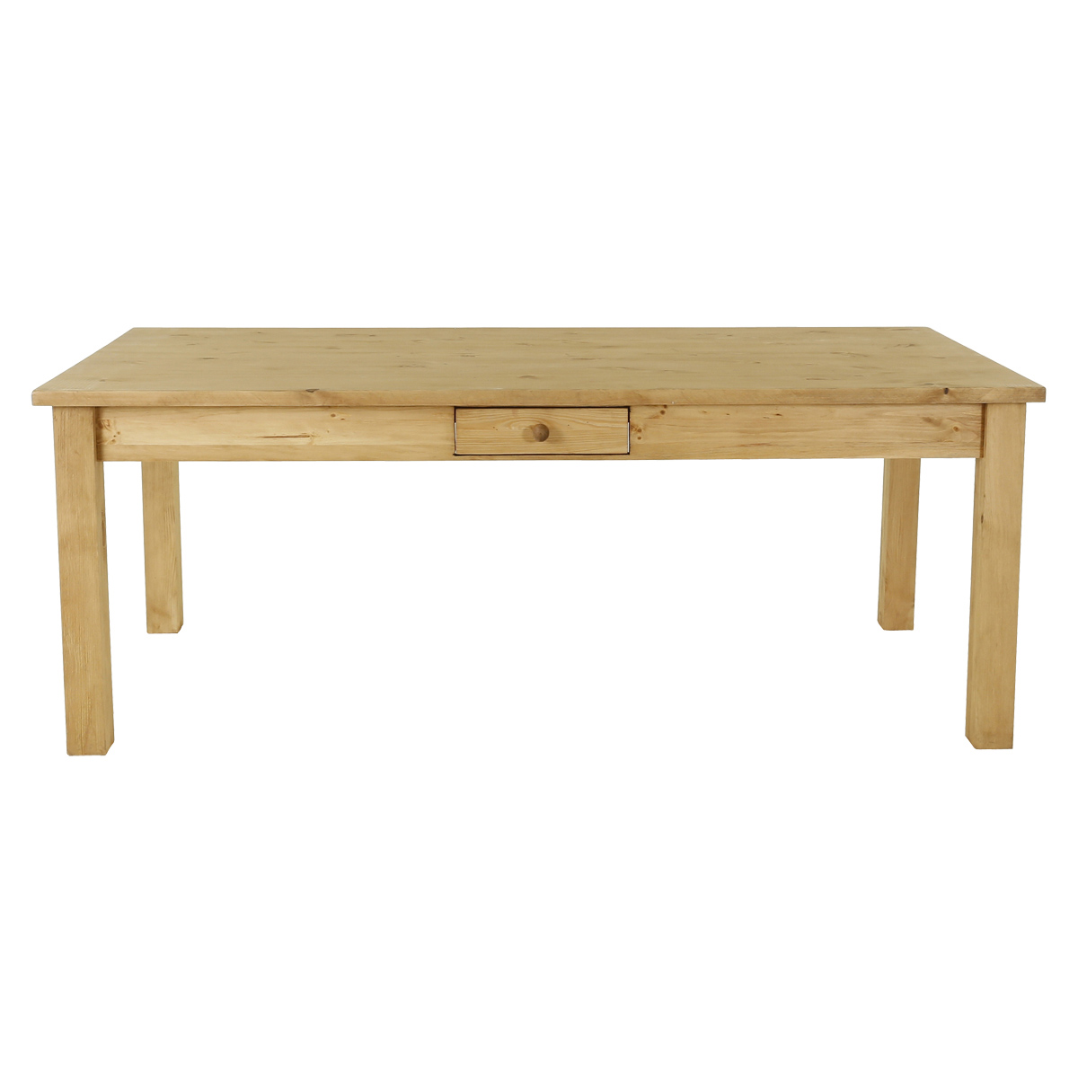 maison du monde Table de ferme + tiroir 200x100 cm allonges en option