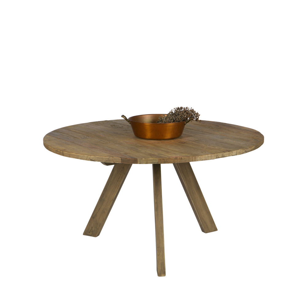 Table à manger ronde D140cm naturel