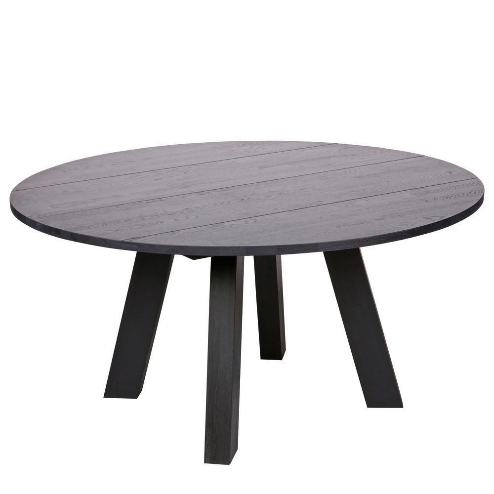maison du monde Table à manger ronde D150cm en chêne noir