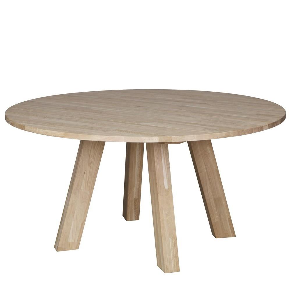 Table à manger ronde D150cm en chêne