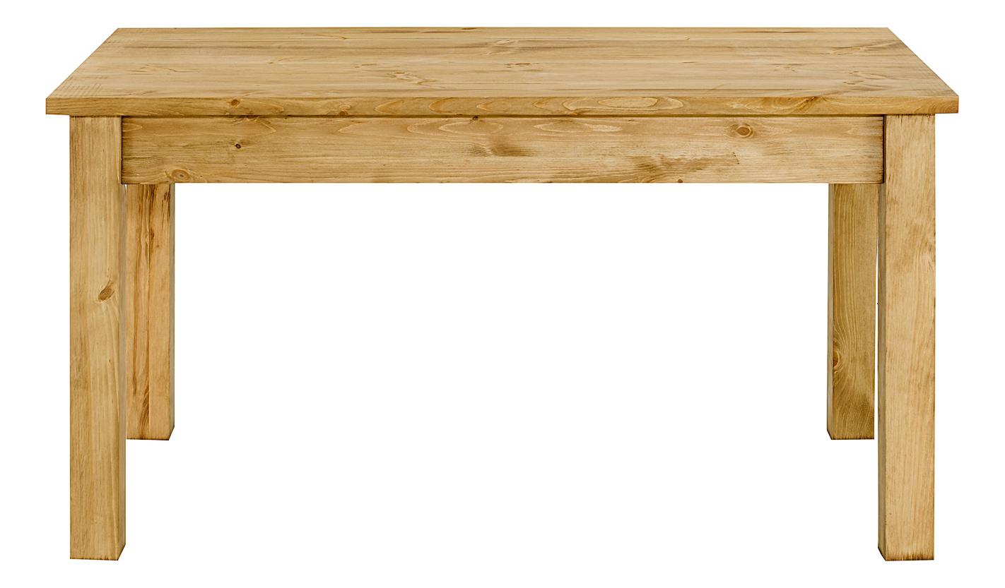 Table repas pin massif 140 x 90 cm allonges en option