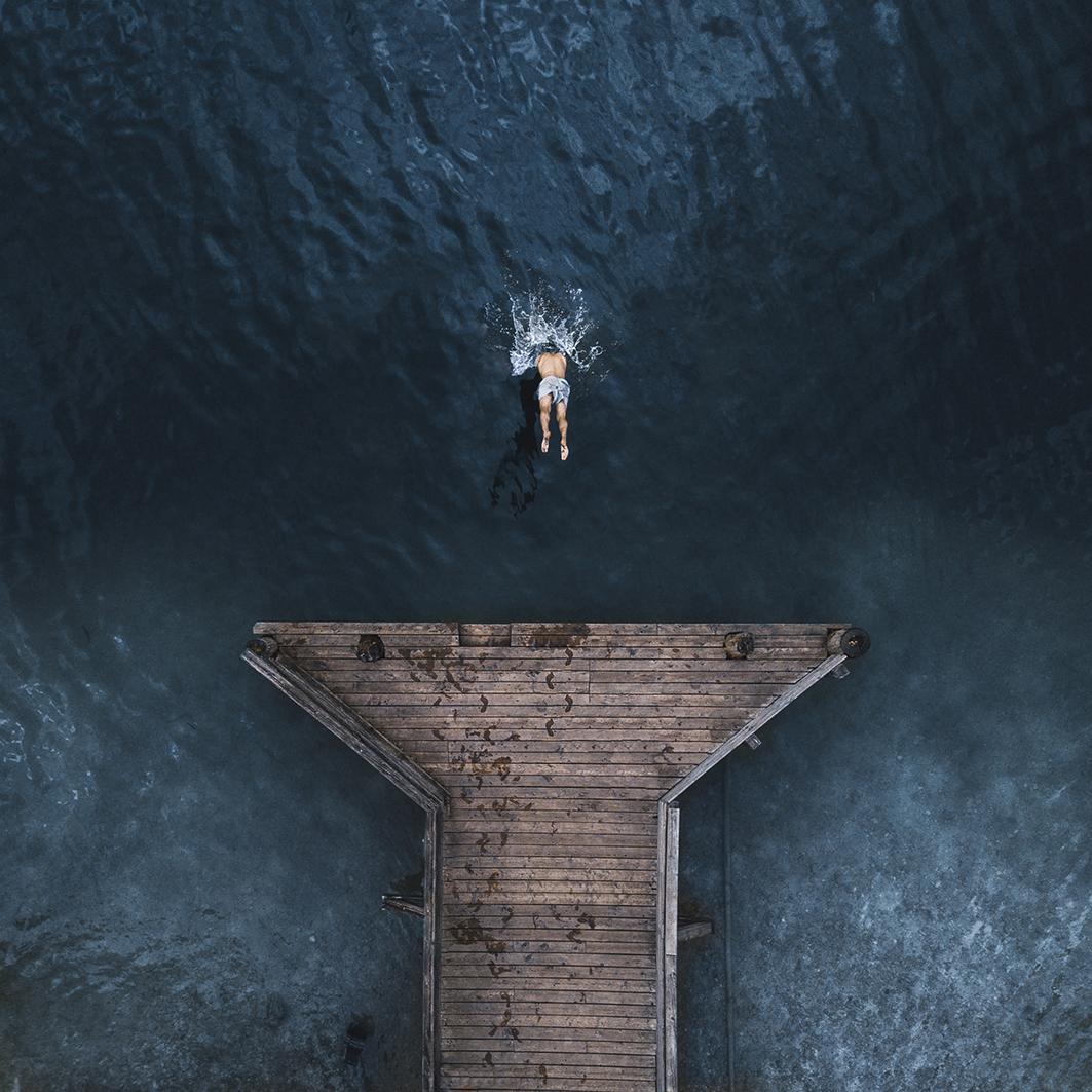 PLONGEON - Photo de Pixopolitan Découvertesen 90x90 cm
