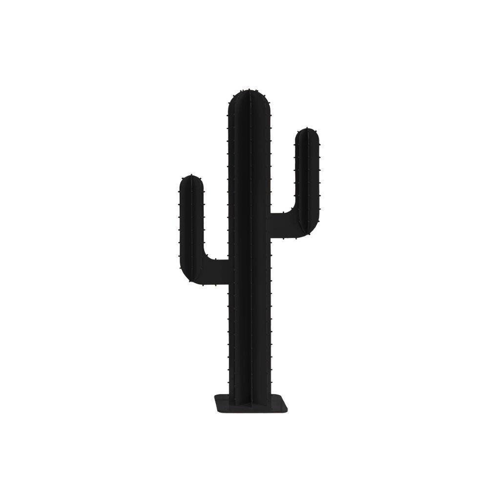 Cactus de jardin 2 branches en aluminium noir H100cm