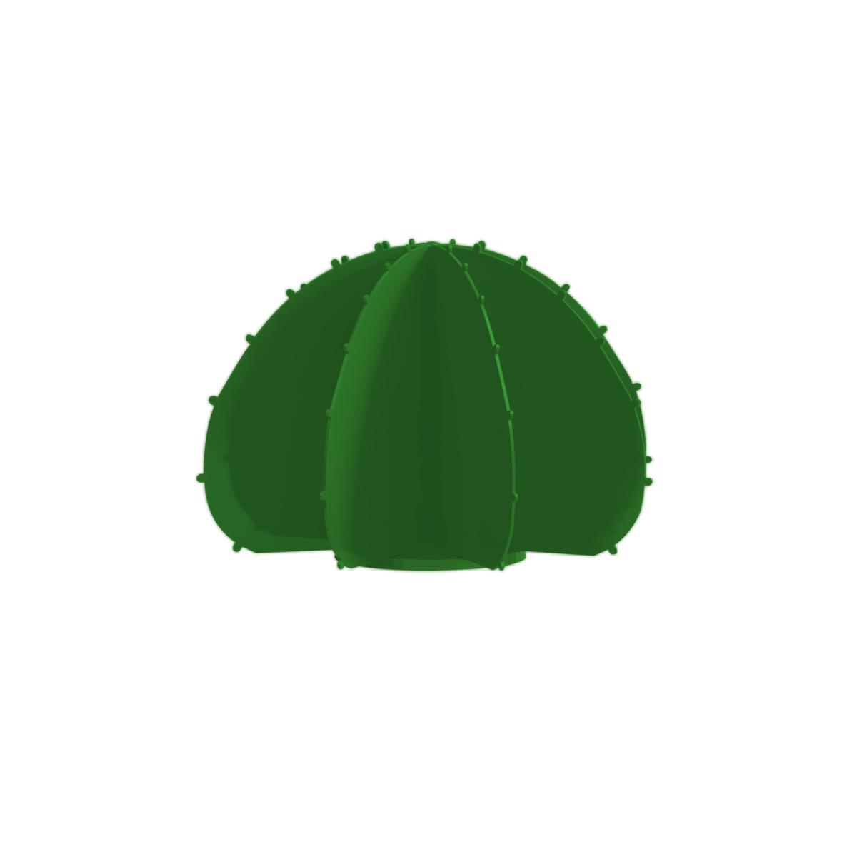 Cactus de jardin boule en aluminium vert D44cm