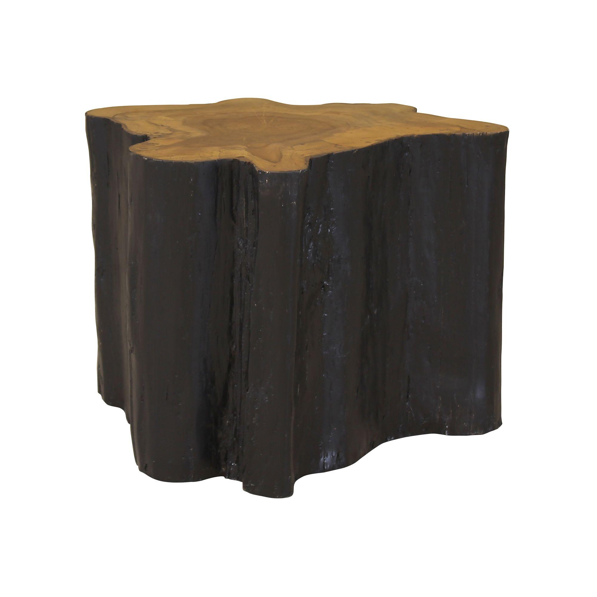 Bout de canapé en bois brûlé