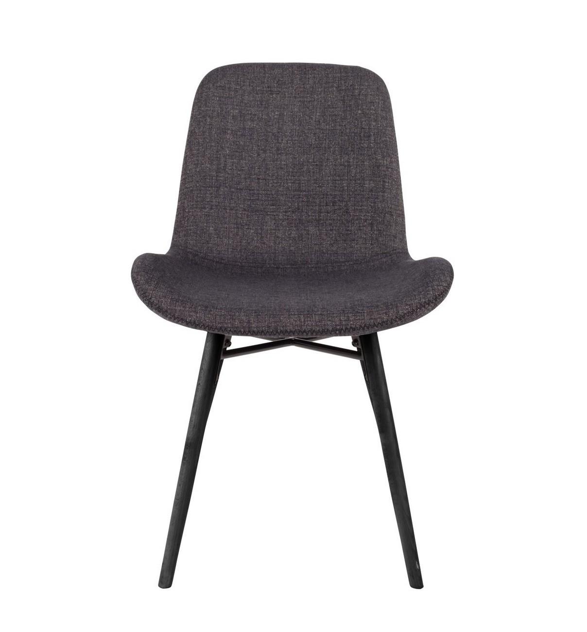 Chaise de repas tissu gris foncé