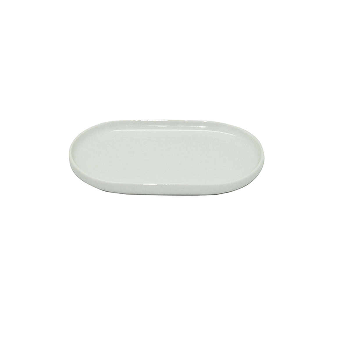 Porte savon en porcelaine blanc