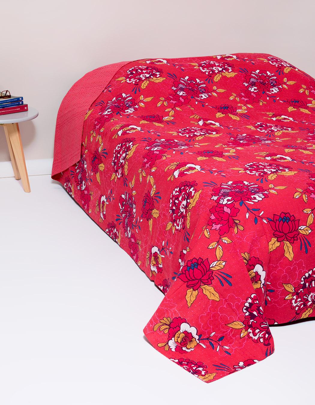 Jeté de lit surpiqué en coton grenadine 240 x 260