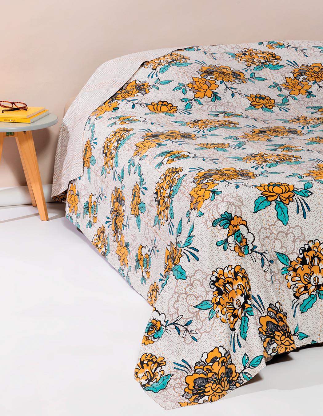 Jeté de lit surpiqué en coton gres 240 x 260