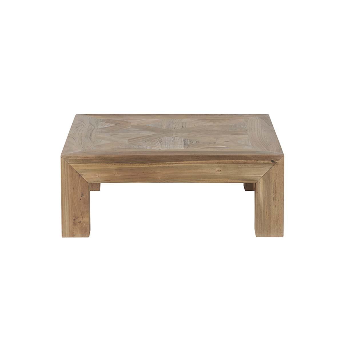 Table basse en teck recyclé
