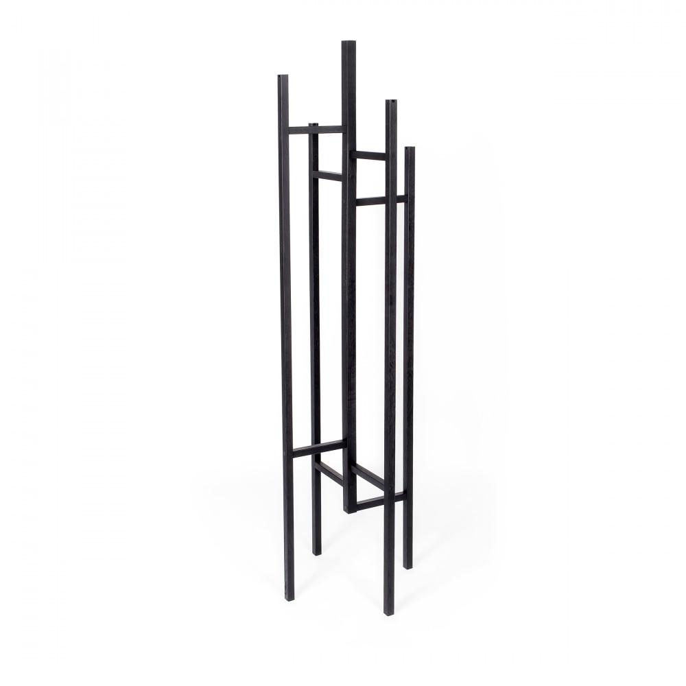 Porte-manteaux design bois massif noir