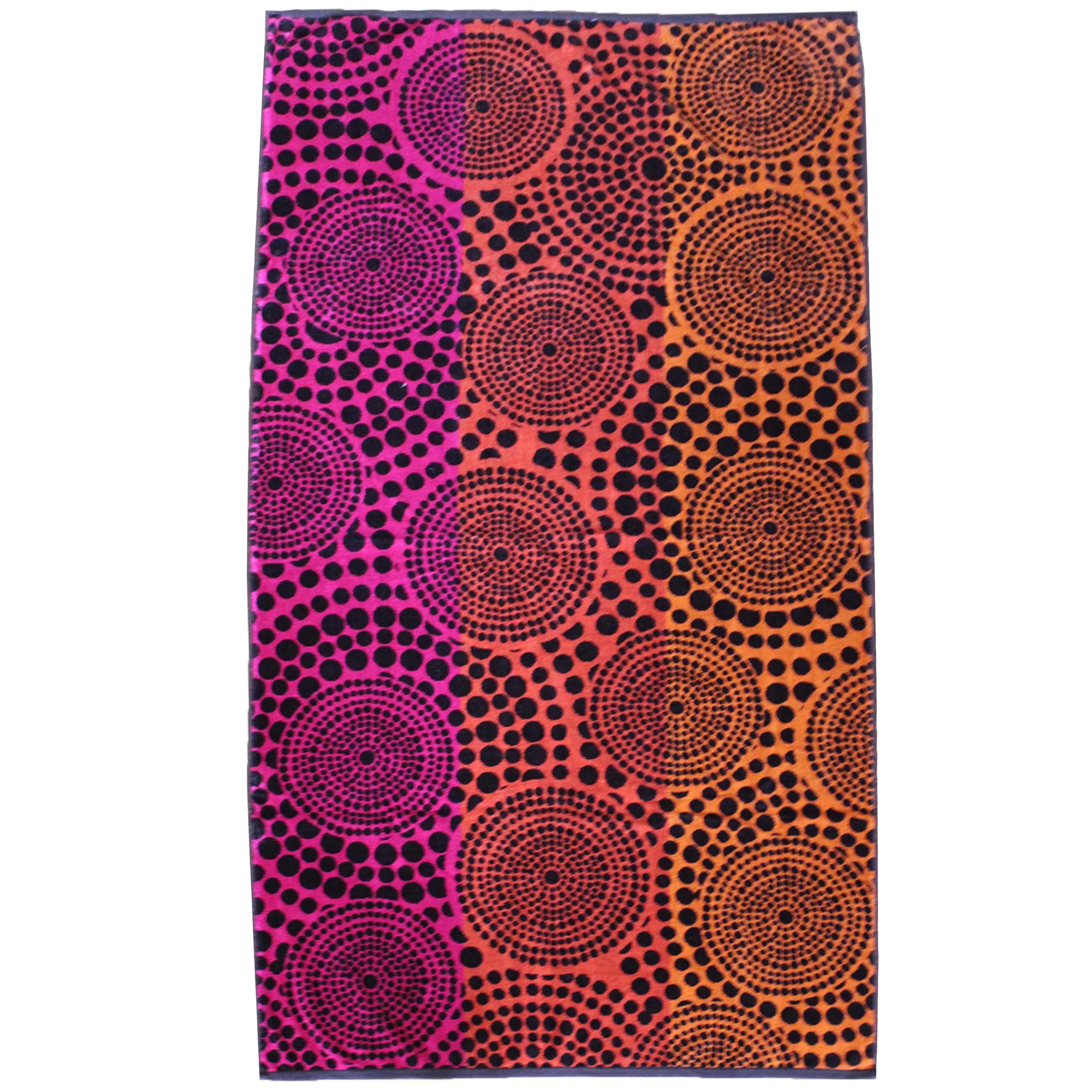 Serviette de plage éponge velours multicolore waxy 90 x 170