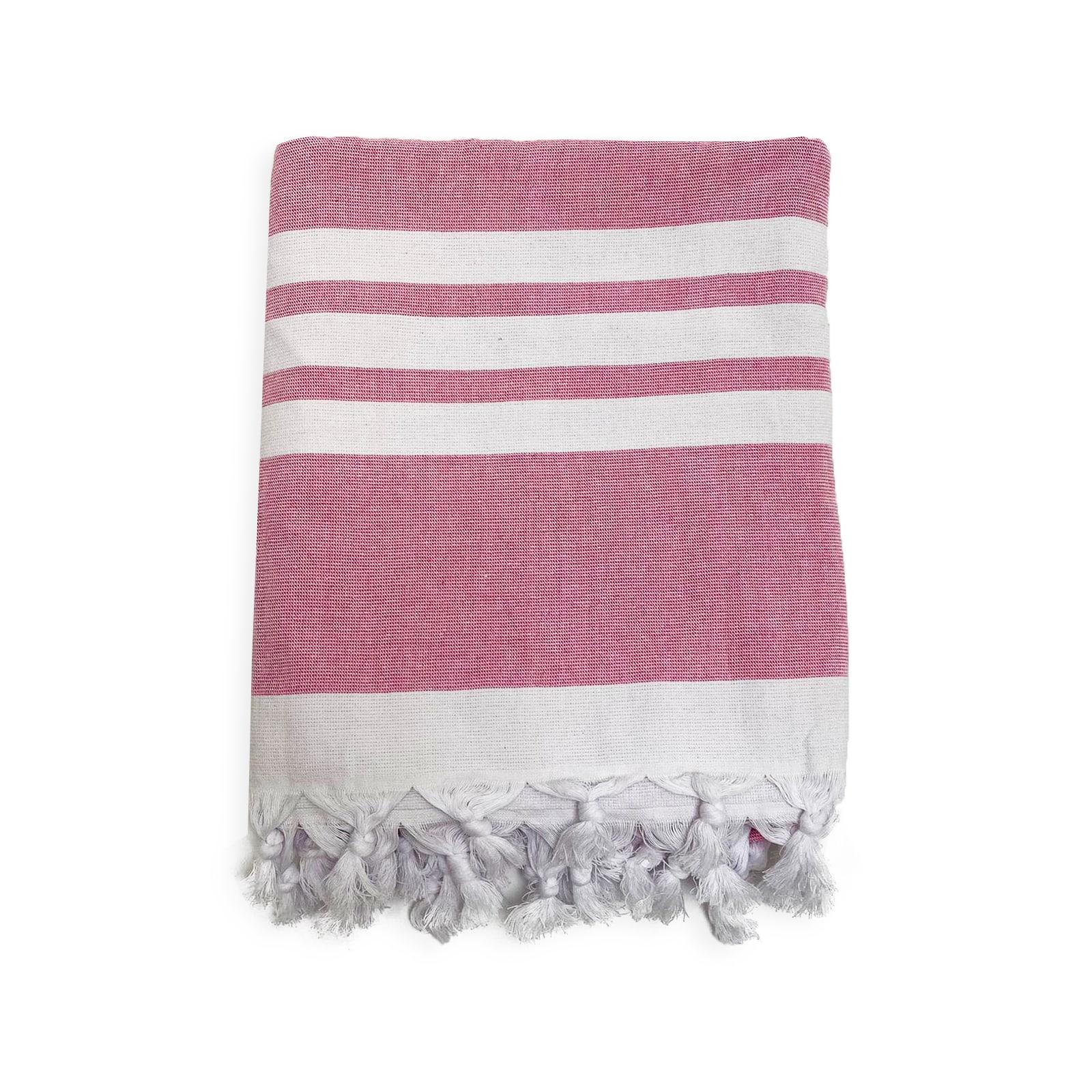 Serviette de plage éponge velours bleu durban 90 x 170