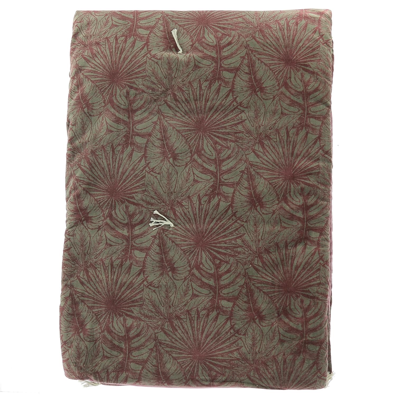 Edredon matelassé en velours de coton 90x200 cm rubis