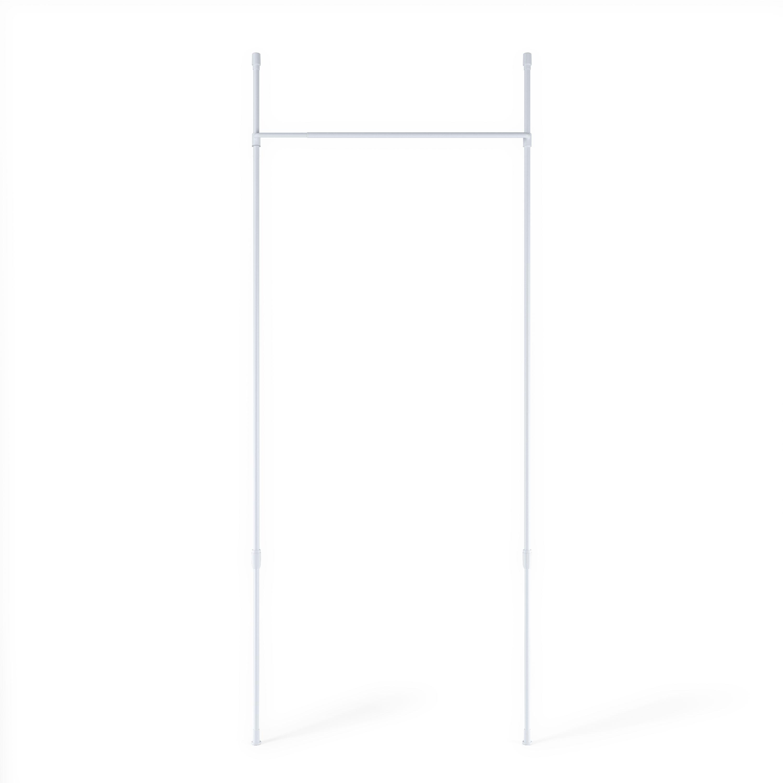 Tringle à rideaux sans perçage séparateur de pièce blanc