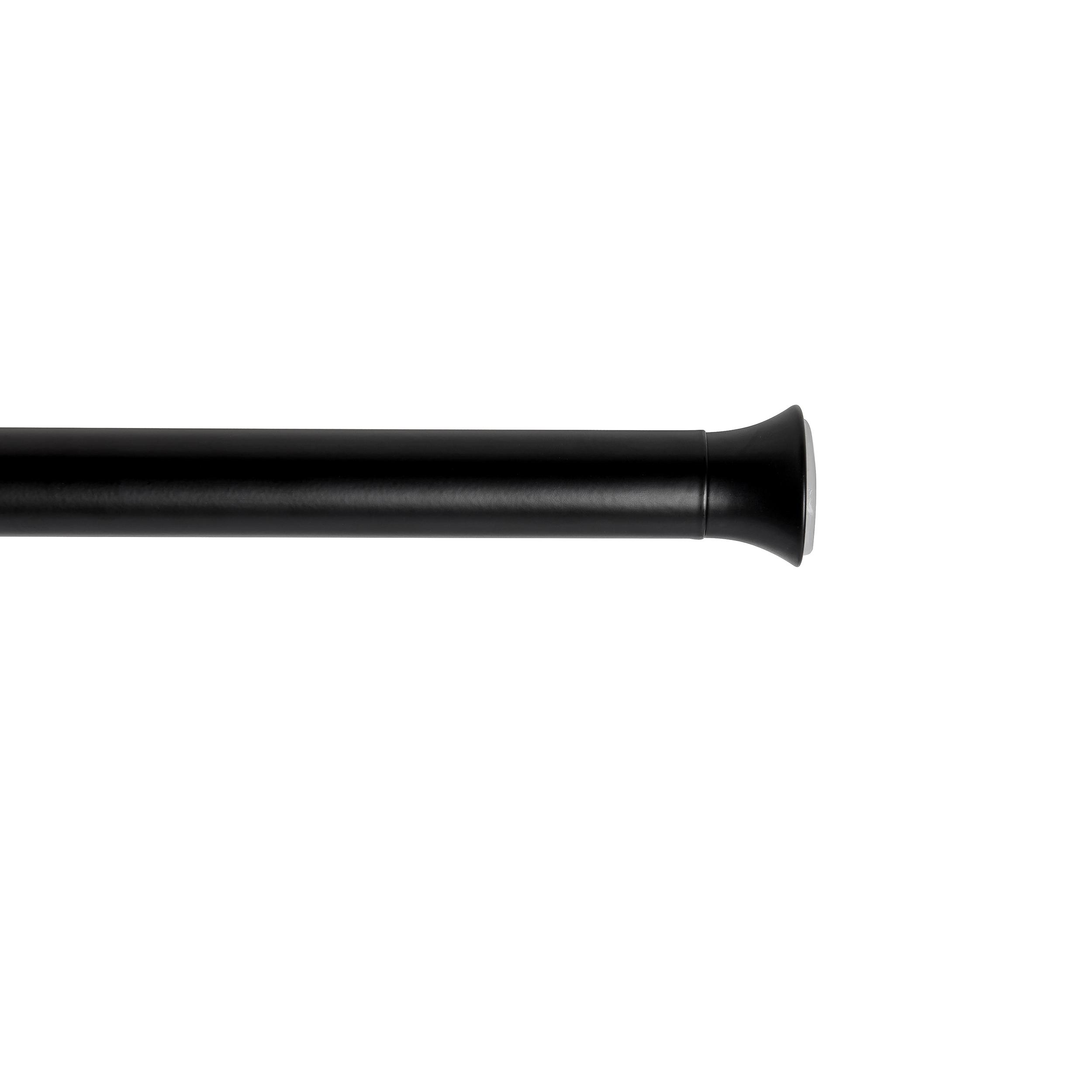 Barre de tension à rideaux ext. de 137 à 228.6cm D22mm noir