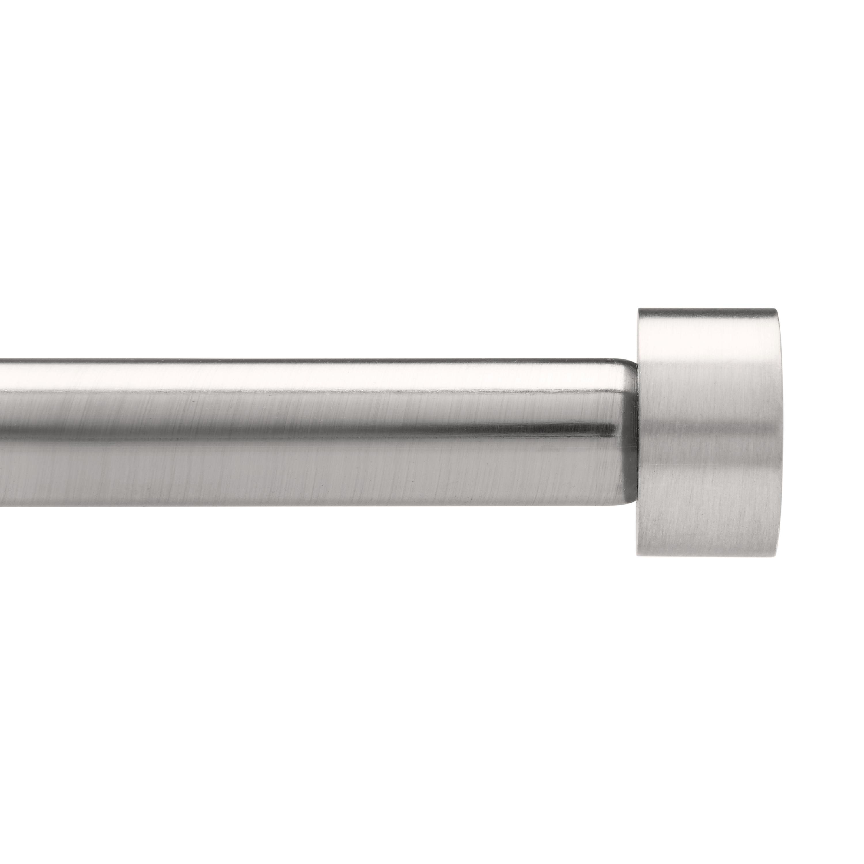 Tringle à rideau et fixations ext. 91 à 183cm nickel D19mm