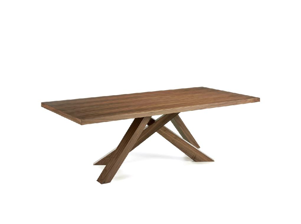 Table à manger placage noyer L240