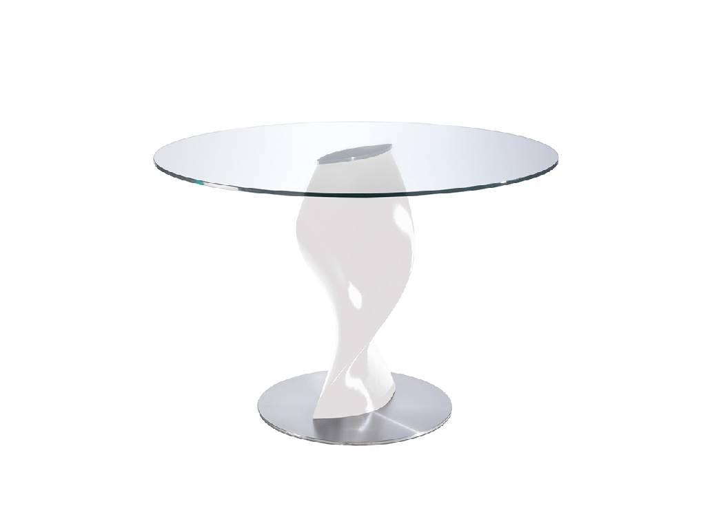 maison du monde Table à manger en verre trempé D130