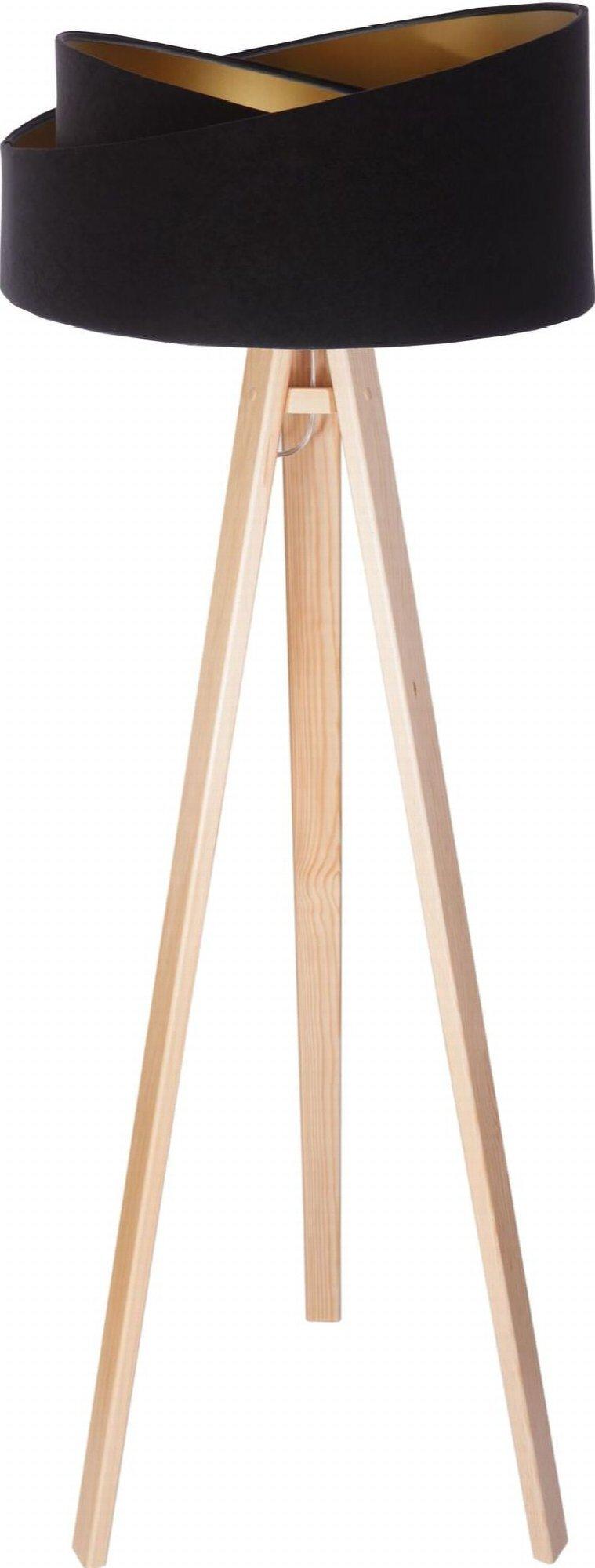 Lampadaire bois clair h145