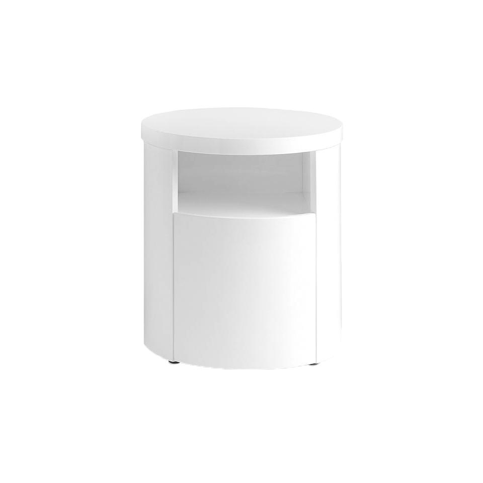 Table de chevet laquée blanche avec tiroir D48