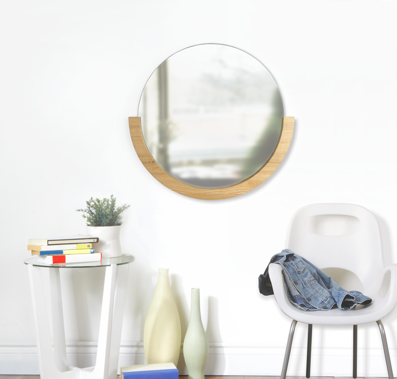 Miroir rond bois coloris bois naturel D 82cm