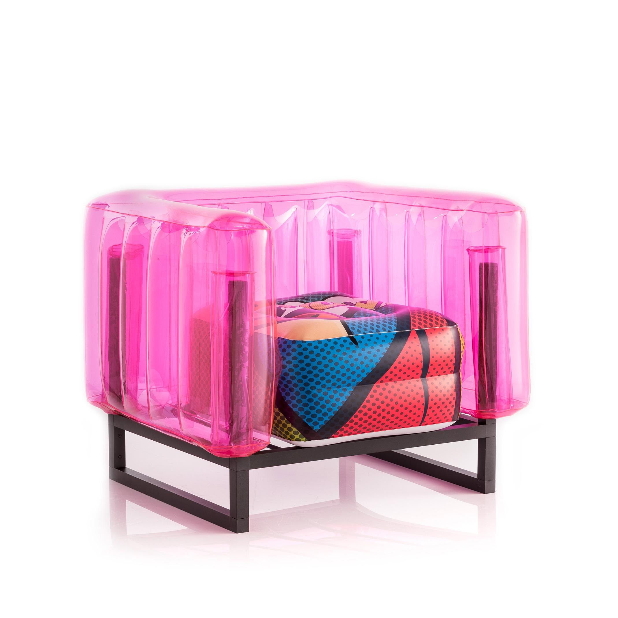 Fauteuil en tpu rose style Pop Art série limitée