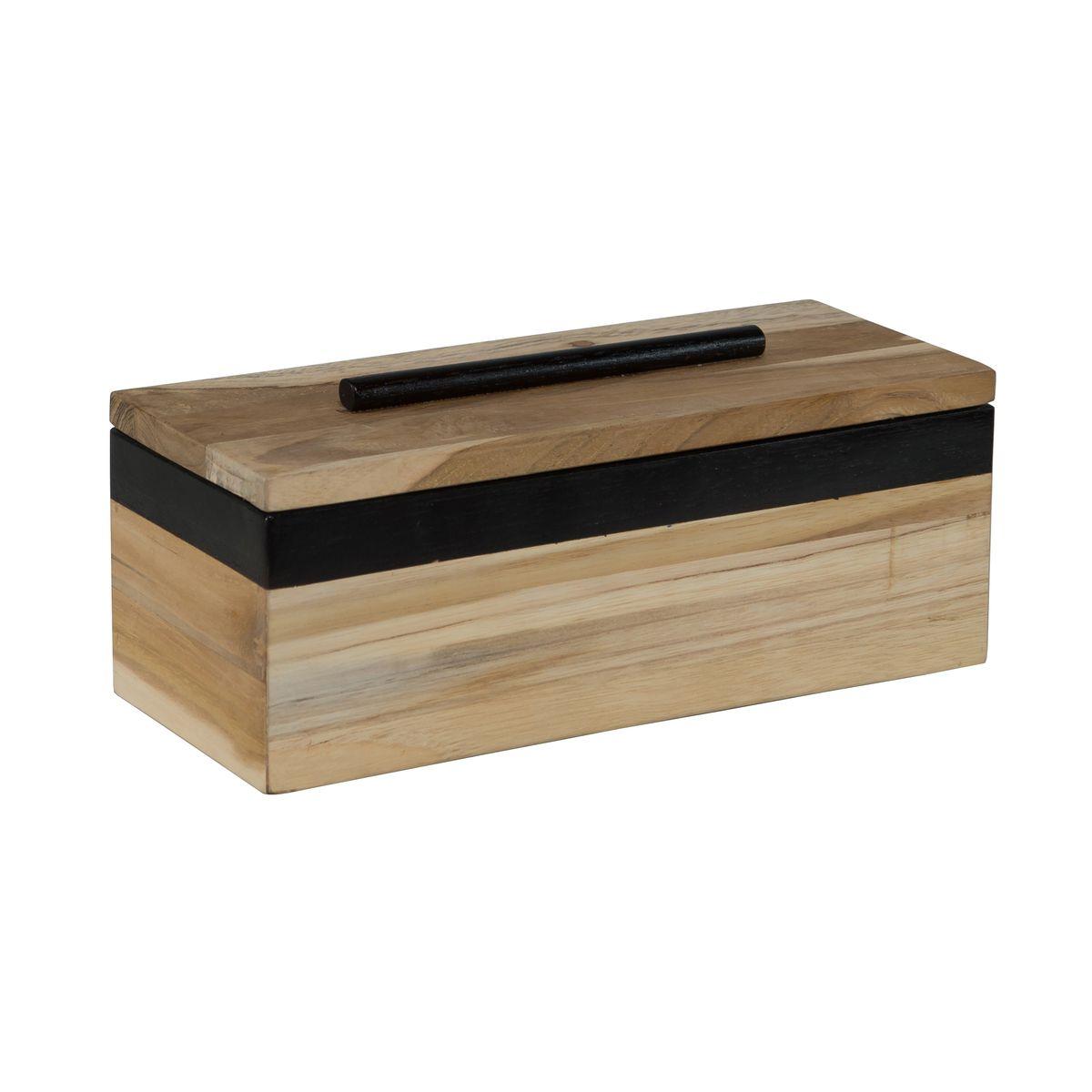 Boîte rectangulaire en bois