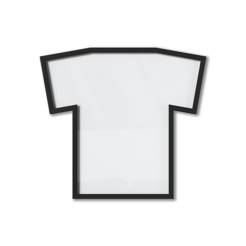 Cadre à fixer pour tee shirt XL, plastique noir