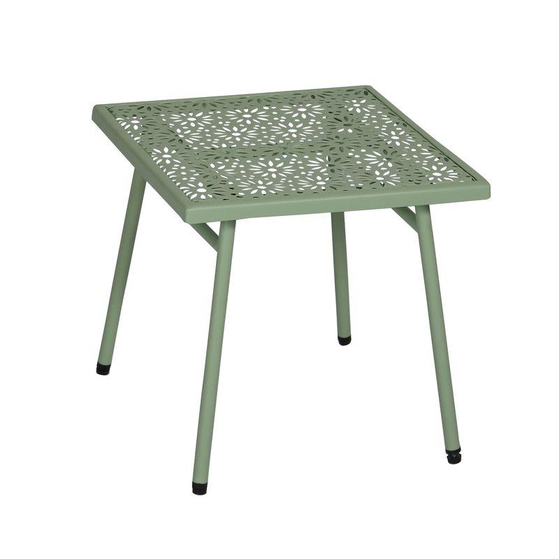 Table basse d'extérieur en métal vert D40