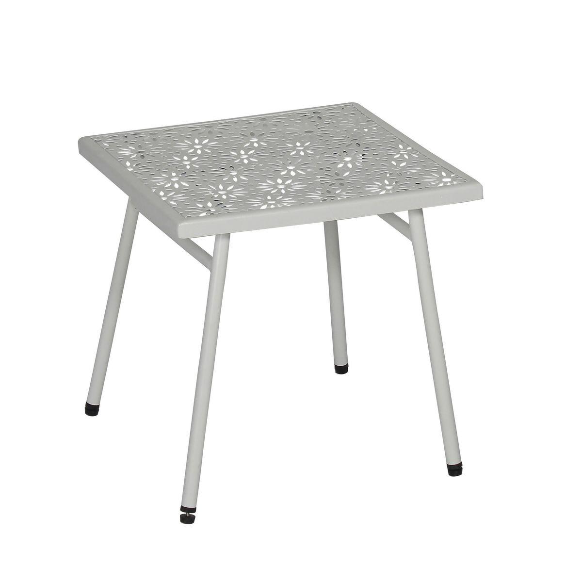 Table basse en métal blanc L40