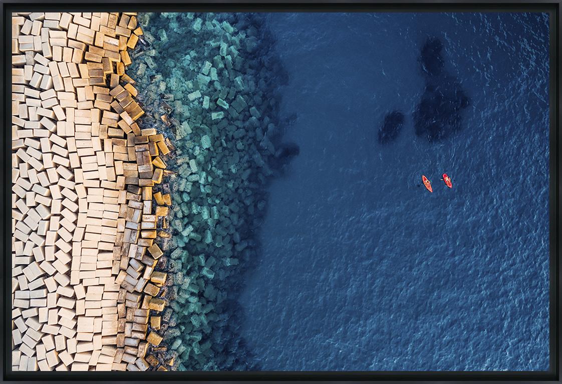 D'AU-DESSUS II - Photo encadrée de Pixopolitan Découvertes 90x60 cm