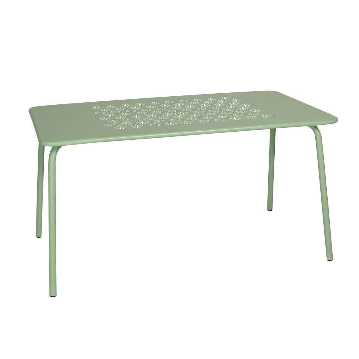 Table d'extérieur en métal vert L140