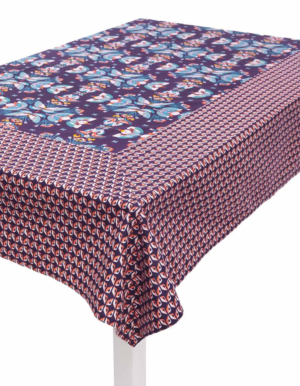 Nappe biprint en coton mure 170 x 170