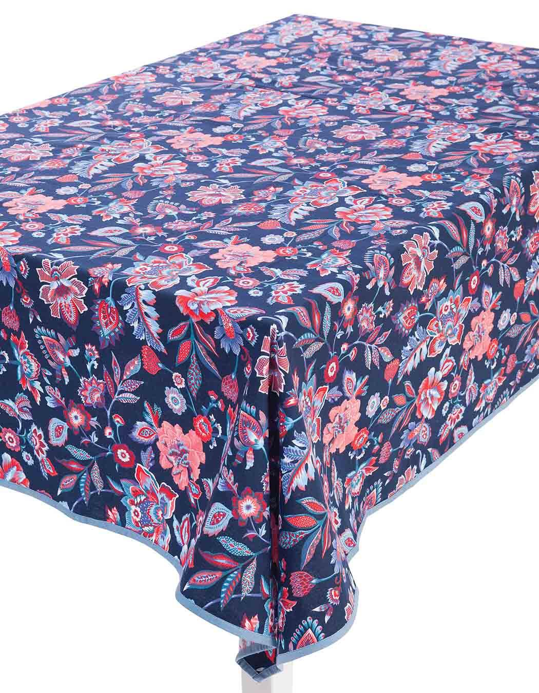 Nappe carrée en coton marine 170 x 170