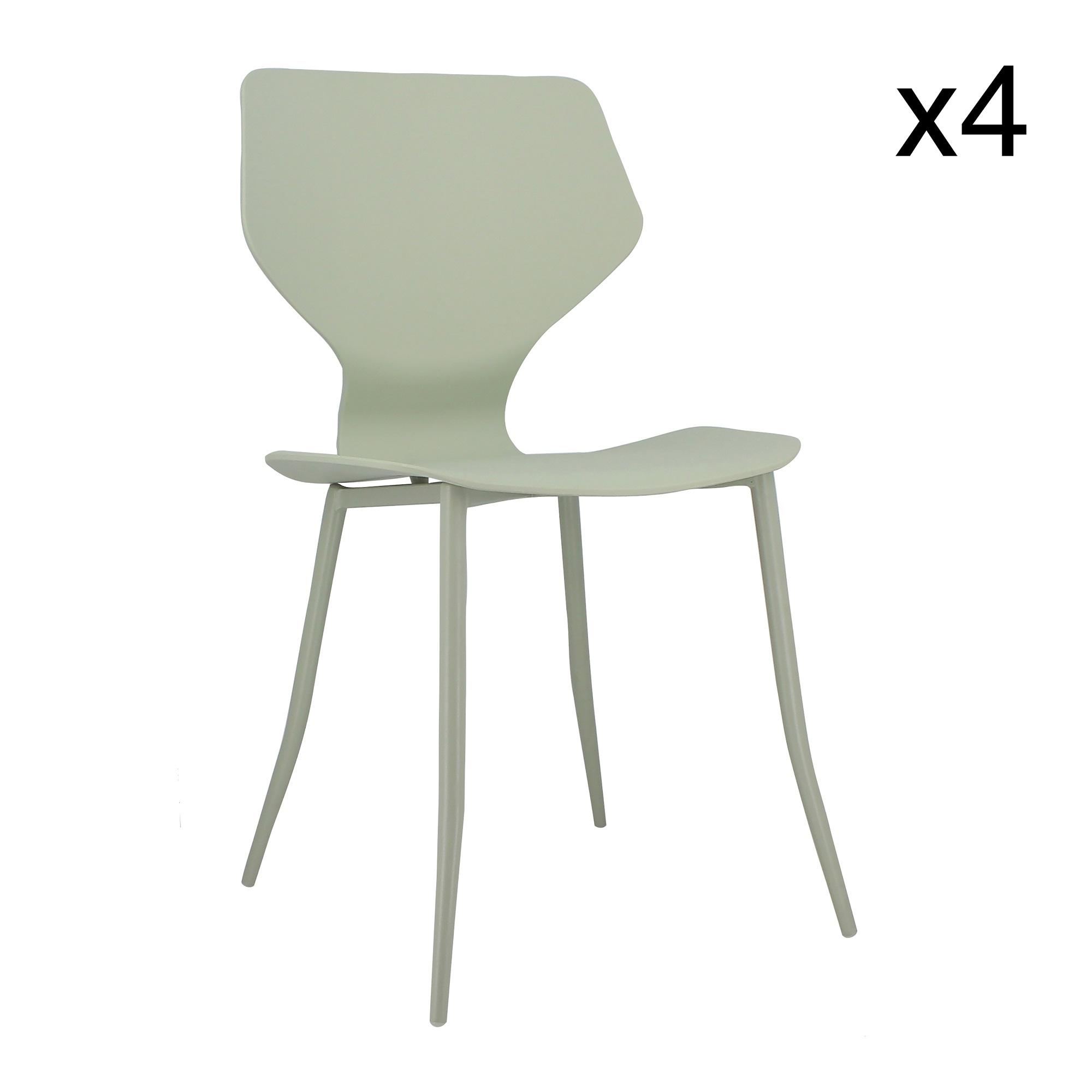 maison du monde Lot de 4 chaises vert tilleul