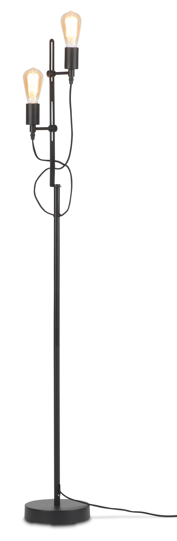 Lampadaire noir H152cm