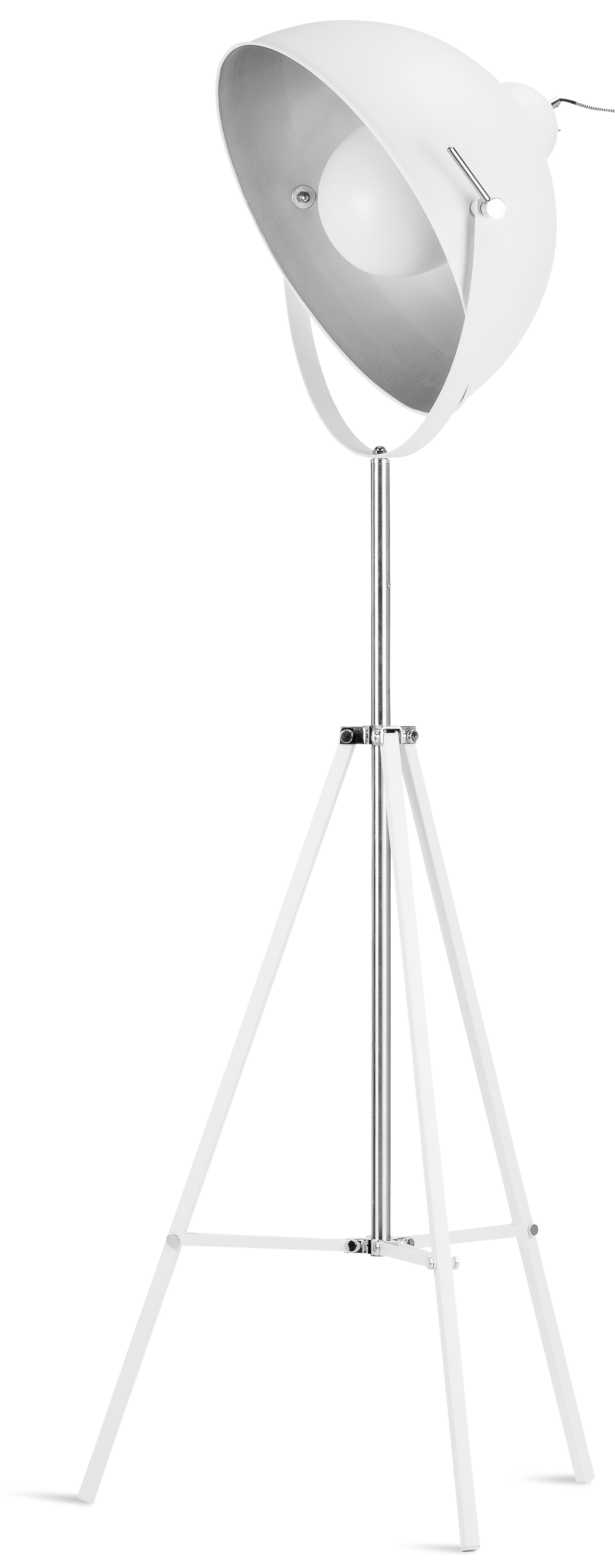 Lampadaire trépied blanc H185cm