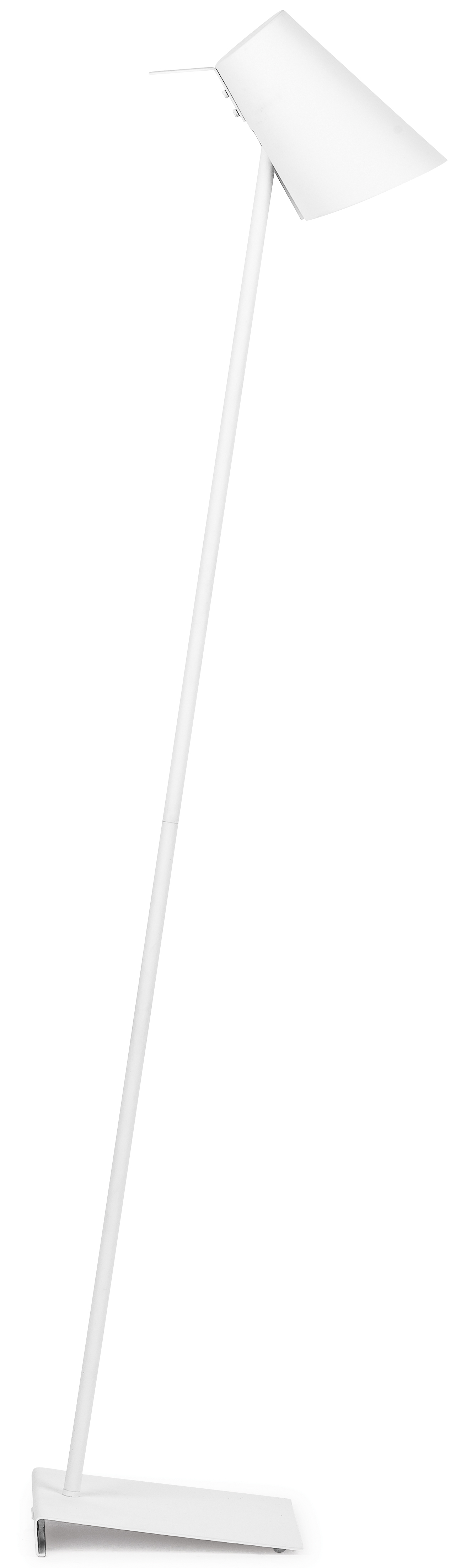 Lampadaire blanc finition gomme H139cm
