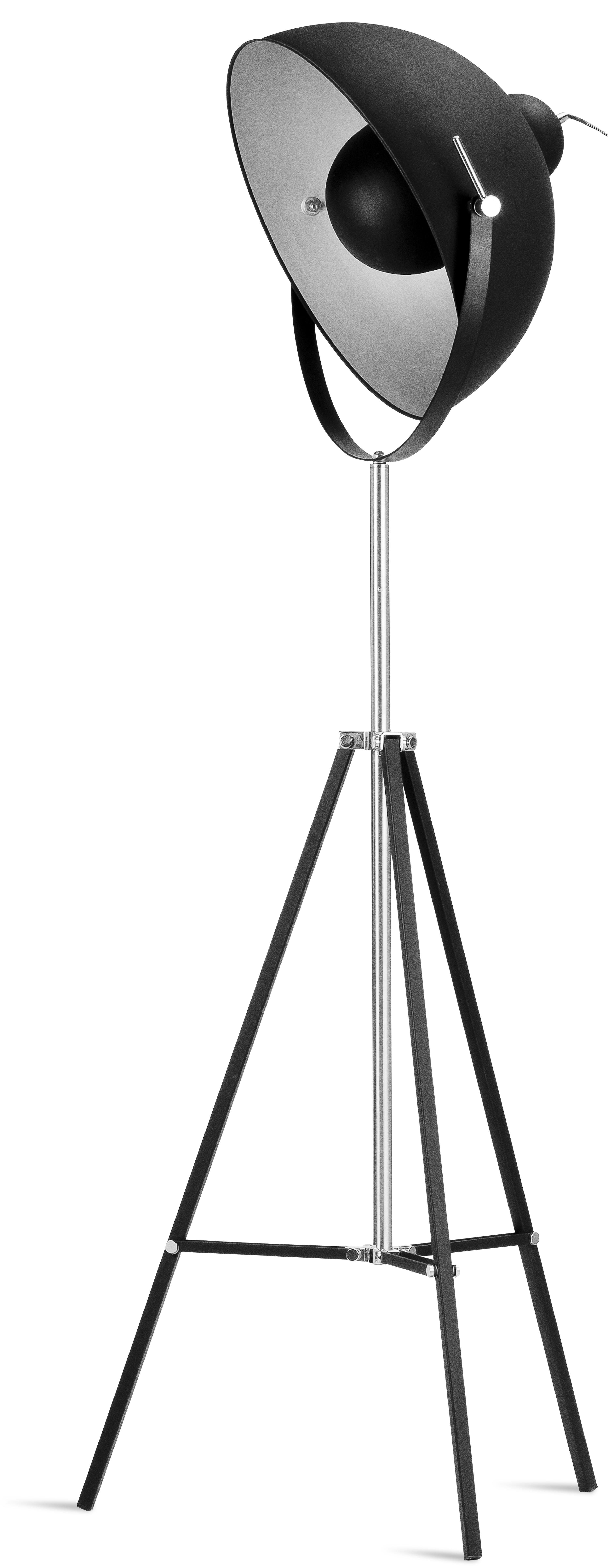 Lampadaire trépied noir H185cm