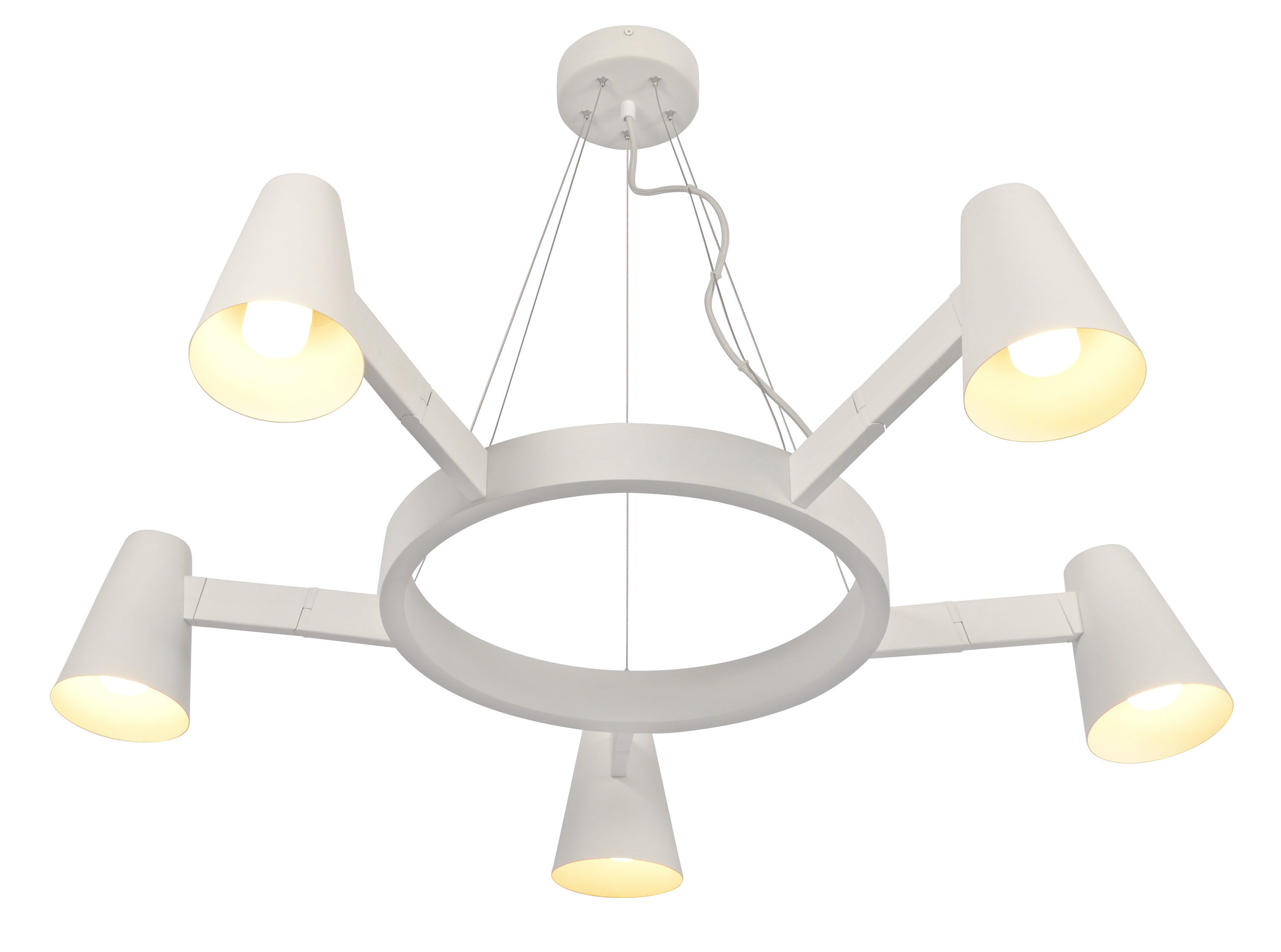 Suspension blanche 5 lampes