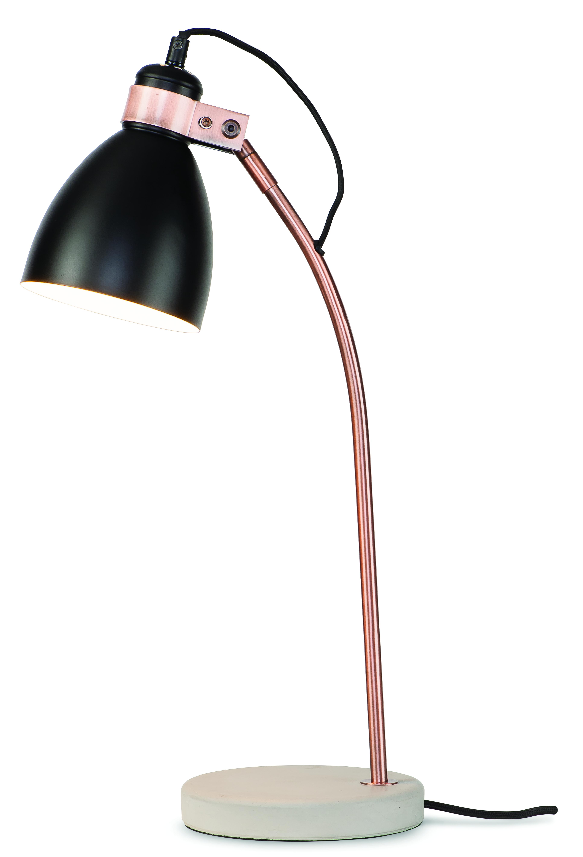Lampe de table noire H50cm