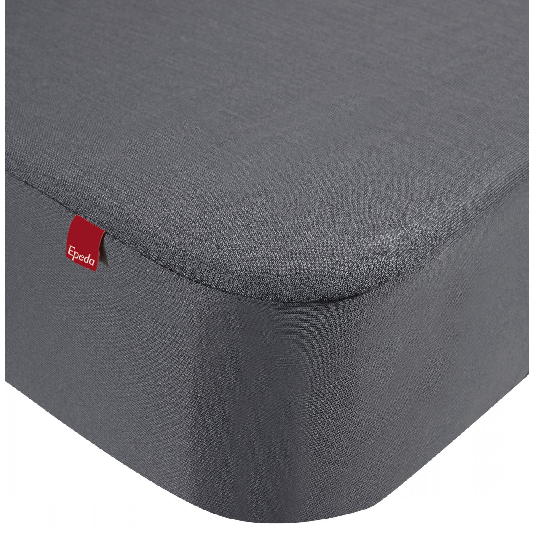 Drap housse protège matelas imperméable 2 en 1 gris 80x190/200