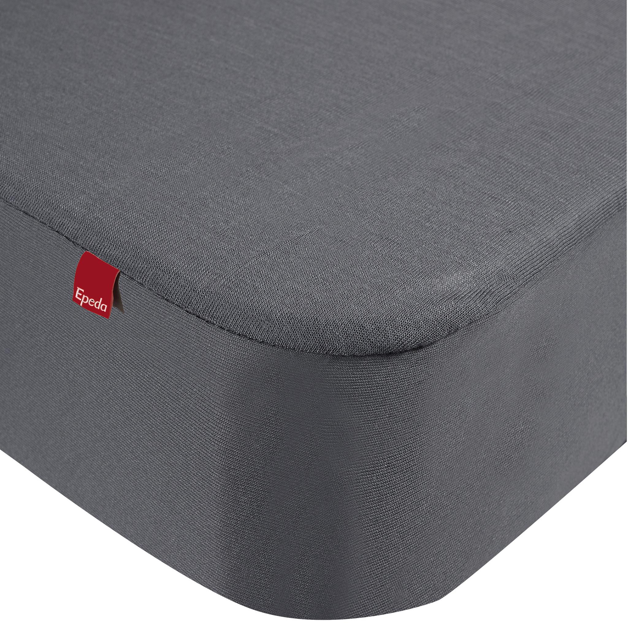 Drap housse protège matelas imperméable 2 en 1 gris 160x190/200