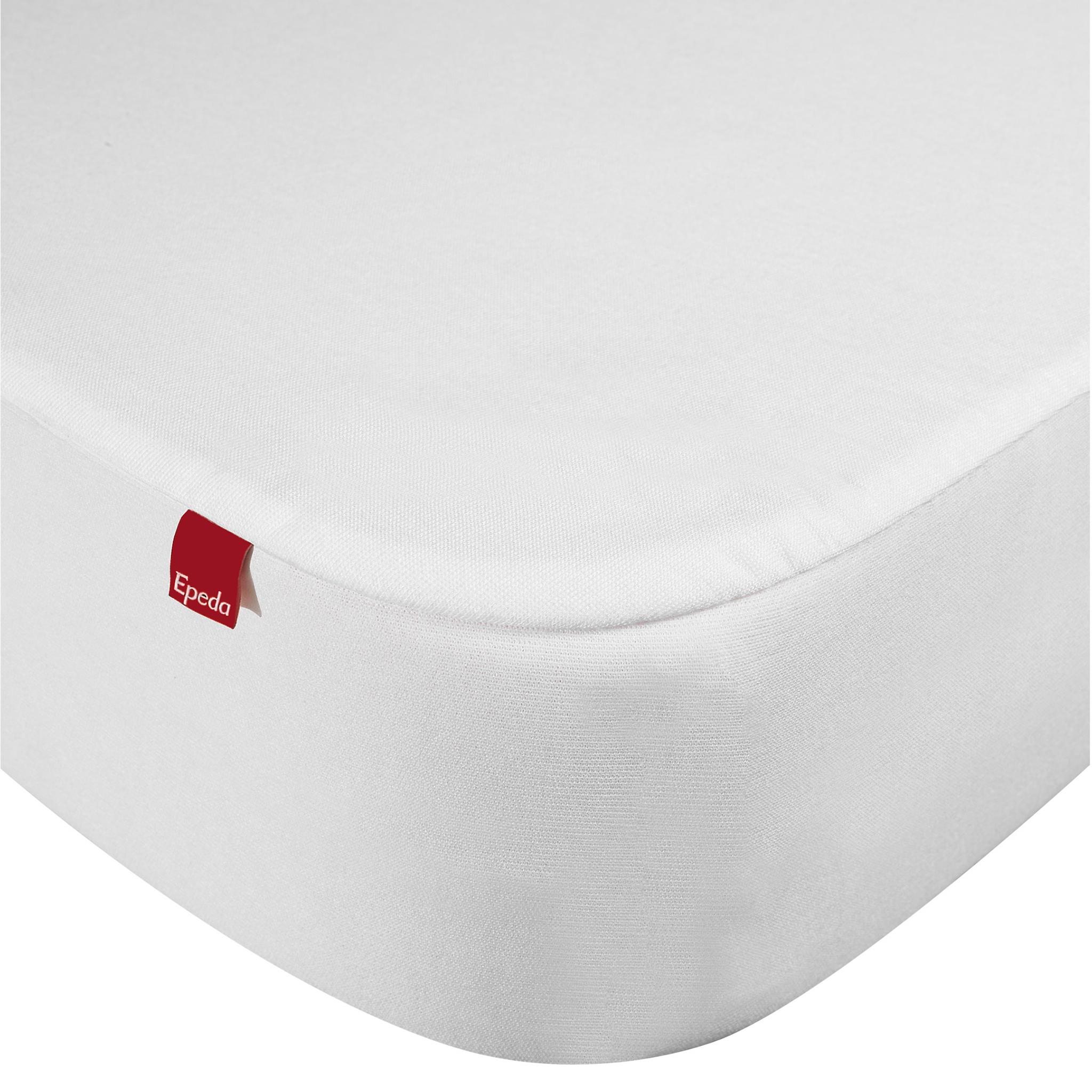 Drap housse protège matelas imperméable 2 en 1 blanc 160x190/200