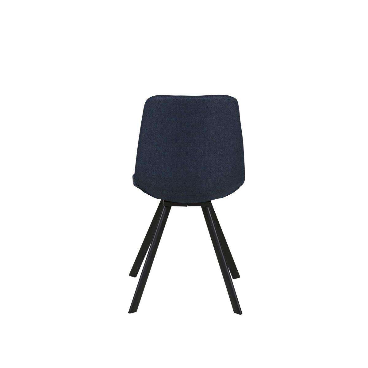 Chaise en tissu  bleu