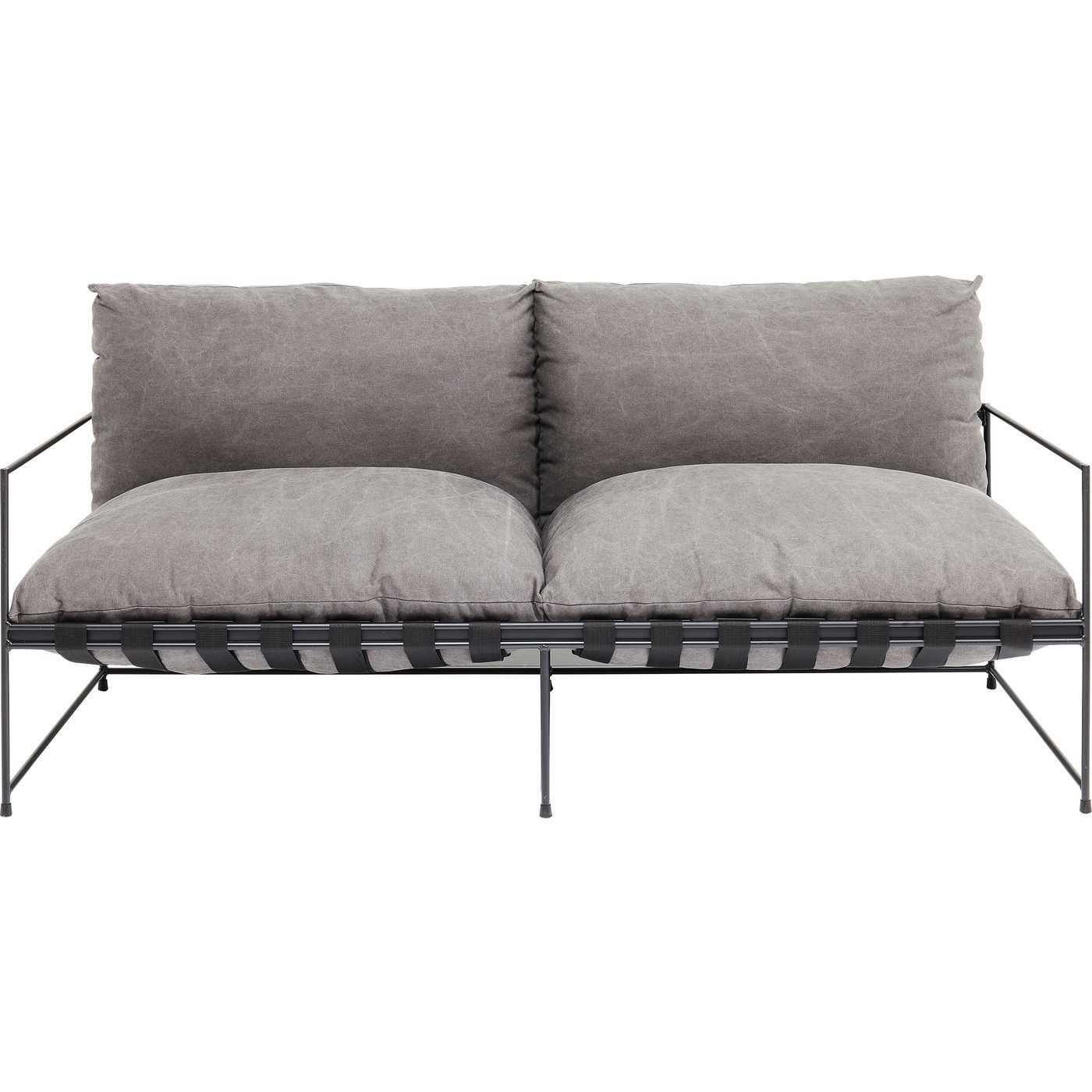 Canapé 3 places en tissu gris